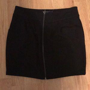 Black Zipper Skirt.